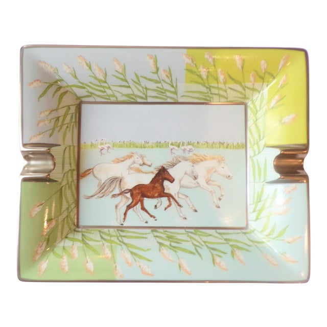 Vintage Hermes Running Horses Ashtray / Catchall For Sale