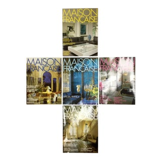 French Interior Decorating Magazines - Set of 5 For Sale