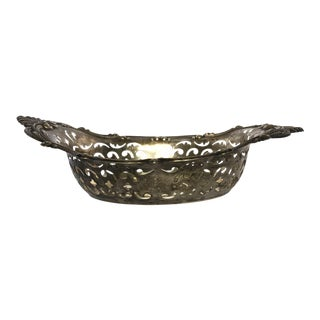 Sterling Silver Pierced Candy/Nut Bowl For Sale