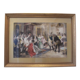 "V. De Paredes ""A Royal Welcome"" Lithograph"