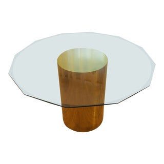Brass Drum Dining Table by Curtis Jere For Sale