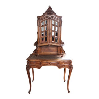 20th Century French Louis XV Vanity Desk With Cabinet For Sale
