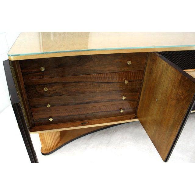 Blue 1940s Mid-Century Modern Osvaldo Borsani Extra Long Sideboard For Sale - Image 8 of 14