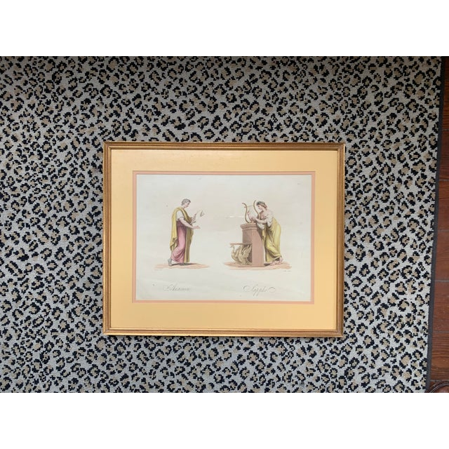 19th Century Classical Watercolor Painting For Sale - Image 4 of 4