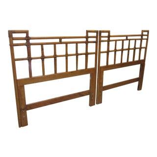 Ficks Reed Rattan Twin Headboards - a Pair