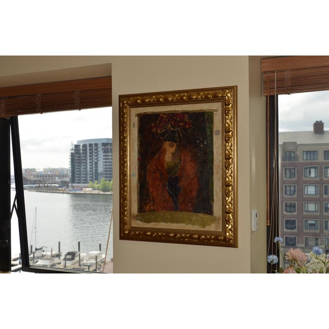 """Roy Fairchild """"Masked Figure"""" Serigraph on Canvas - Image 5 of 10"""