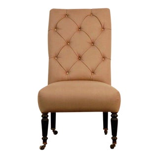 Late 19th Century Vintage Napoleon III Tufted Chauffeuse For Sale