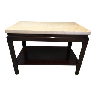 1950s Mid-Century Modern Paul Frankl Cork and Mahogany Side Table For Sale