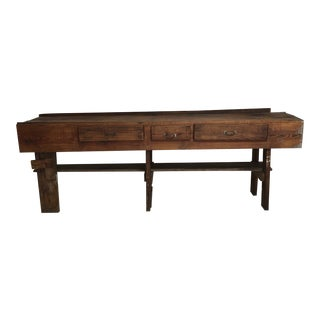 Large Vintage Primitive Workbench / Island For Sale