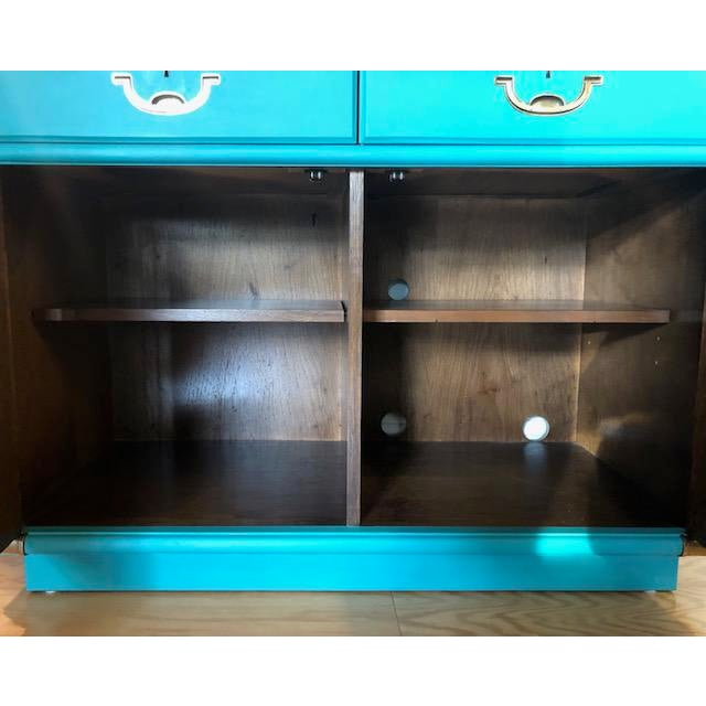 1960s Drexel Furniture Campaign Mid-Century Server or Buffet For Sale - Image 5 of 8