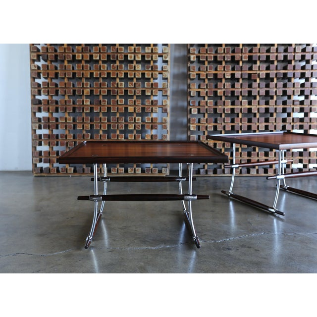 Jens Quistgaard Rare Pair of Rosewood Tables for Nissen Denmark, 1960 For Sale - Image 12 of 13