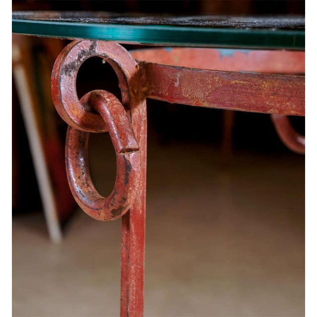 Wrought Iron End Tables - A Pair For Sale - Image 4 of 7