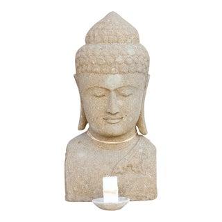 Striking Oversize Stone Buddha For Sale