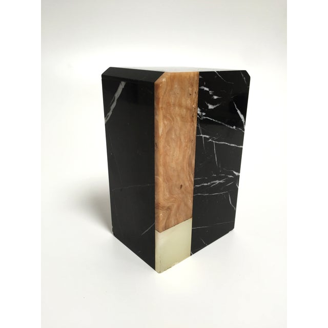 Post-Modern Marble Bookends - A Pair - Image 7 of 9
