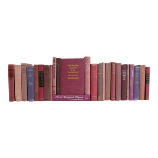 Vintage Mid Century Purple Book Collection - Set of 25 For Sale