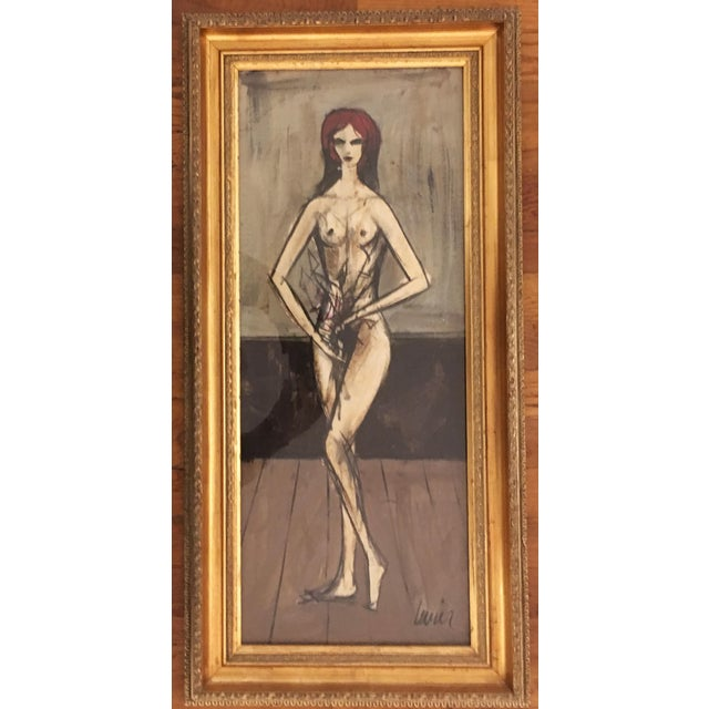 Charles Levier Oil on board circa 1950's - 60's image size: 27 x 11 inches framed size: 31.5 x 16 Provenance: Martin...