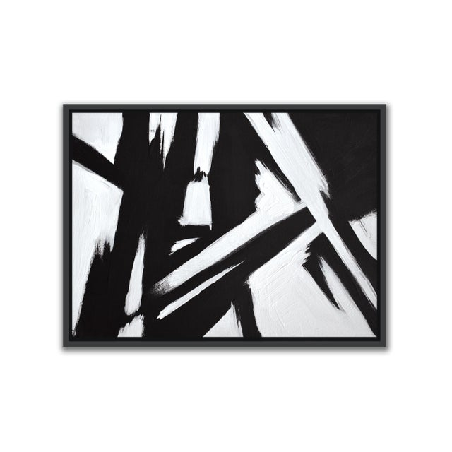 Abstract Black & White Slash - Frame Print 30x40 For Sale In Washington DC - Image 6 of 6