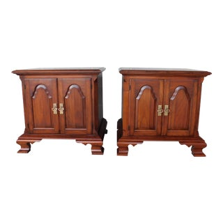 Pennsylvania House Chippendale Style Solid Cherry Nightstands - a Pair For Sale