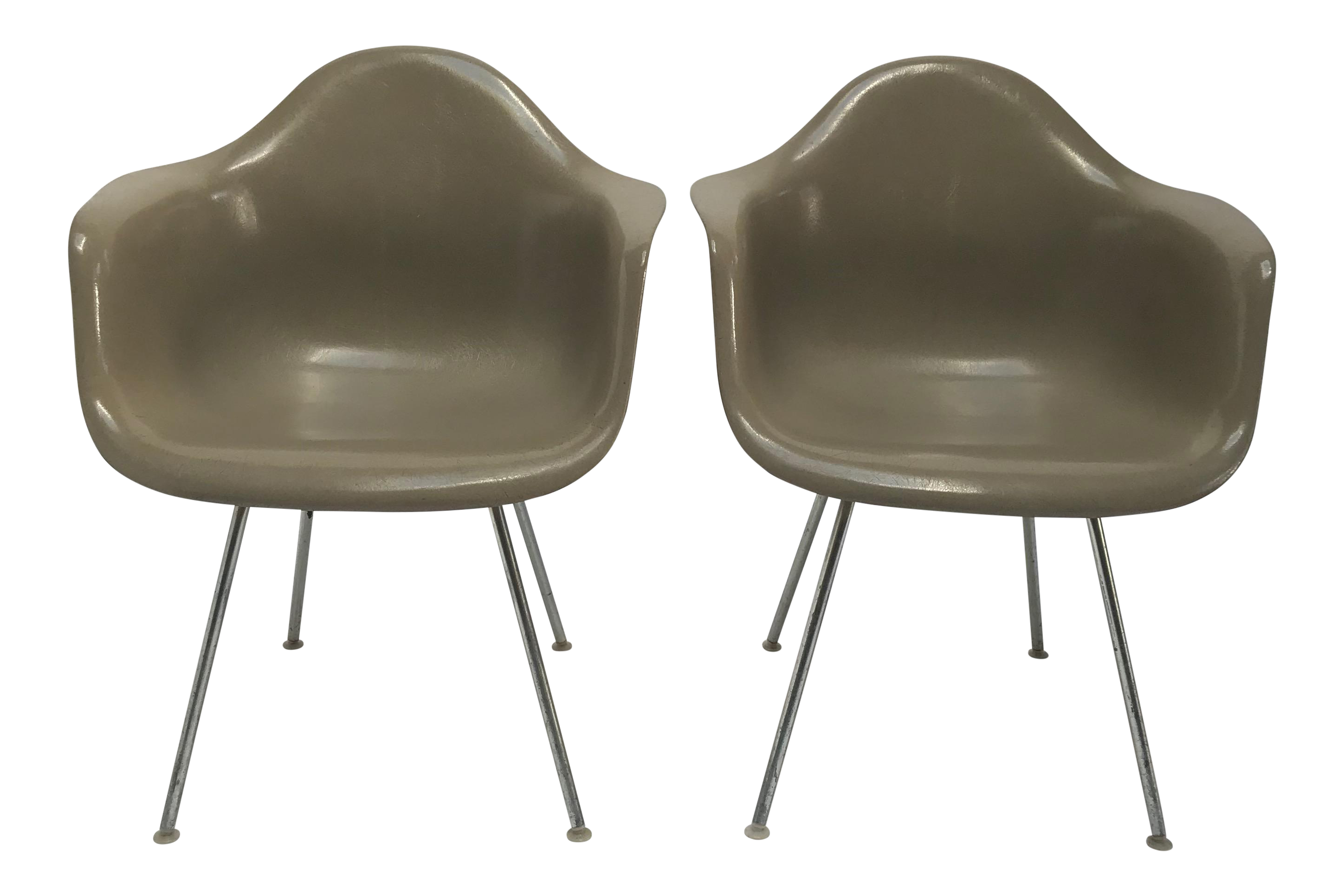 Vintage Eames Armchairs For Herman Miller   A Pair