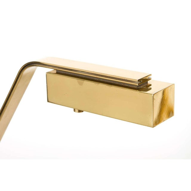 Gold Casella Cantilevered Flat Bar Pivot Reading Lamp For Sale - Image 8 of 8