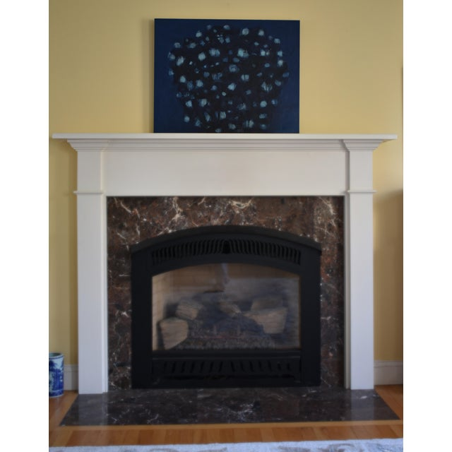 "Black Stephen Remick ""Magnolia in Moonlight"" Contemporary Abstract Painting For Sale - Image 8 of 10"