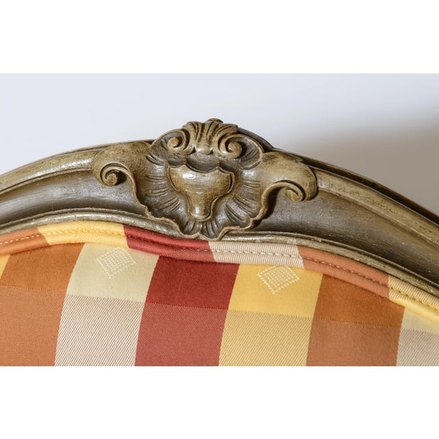 Late 19th Century Painted Fauteuils - a Pair For Sale - Image 4 of 11