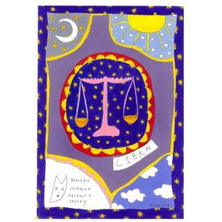 """""""Libra Horoscope"""" Contemporary A4 Giclée Print For Sale"""