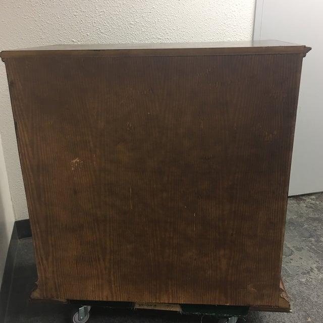 Vintage Carved & Inlaid 4 Drawer Dresser - Image 5 of 9