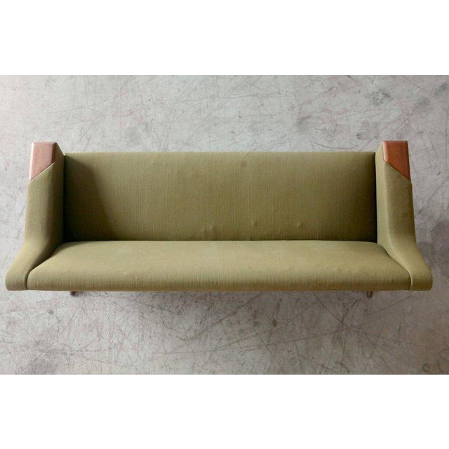 Danish Midcentury Sofa in Wool and Teak by Erhardsen and Erlandsen for Eran For Sale - Image 9 of 10