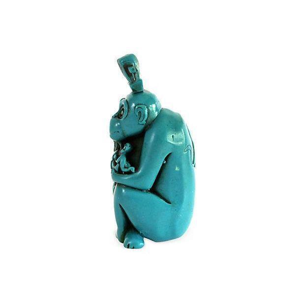Turquoise Monkey Snuff Bottle - Image 4 of 4