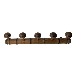 Antique French Faux Bamboo Wall/Coat Rack For Sale