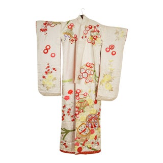 Vintage Silk Brocade Japanese Ceremonial Kimono For Sale