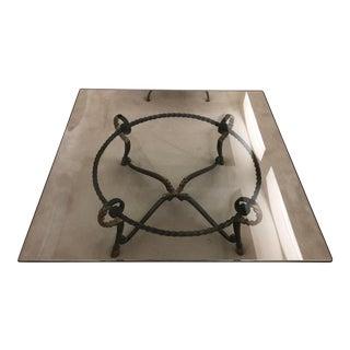 """Ram's Feet"" Glass Top Coffee Table For Sale"