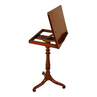 Early 19th Century Georgian Mahogany Reading Stand For Sale