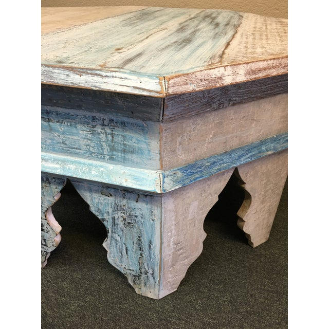 Sunrise Home Custom Wash Moroccan Style Octagonal Side Table - Image 4 of 8