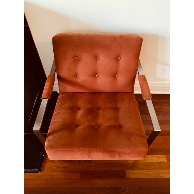Metal Milo Baughman for Thayer Coggin the 1937 Armchair For Sale - Image 7 of 9
