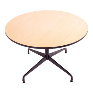 Mid Century Charles and Ray Eames for Herman Miller Round Aluminum Table For Sale