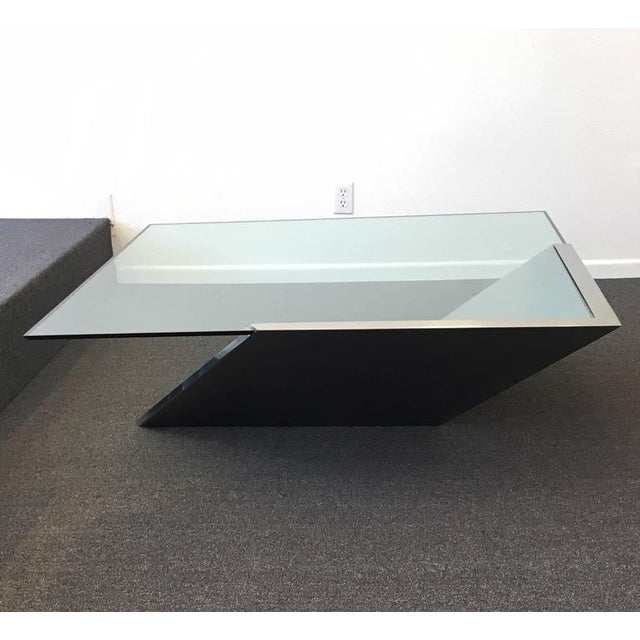 Brushed Stainless Steel and Glass Cocktail Table by Brueton - Image 6 of 9