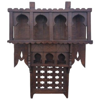 Moroccan Reclaimed Wood Wall Shelf, Ben 2 For Sale