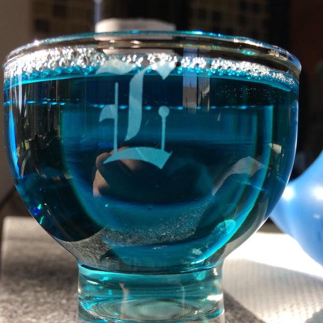 """Vintage """"L """" Monogrammed Crystal Aperitif Glasses - Set of 6 - Image 10 of 11"""