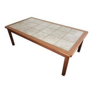 Danish Mid-Century Modern Tile Top Table