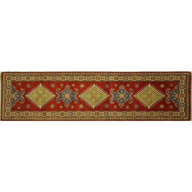 "Shirvan Red Kazak Runner Rug - 2'8"" x 9'6"" - Image 1 of 10"