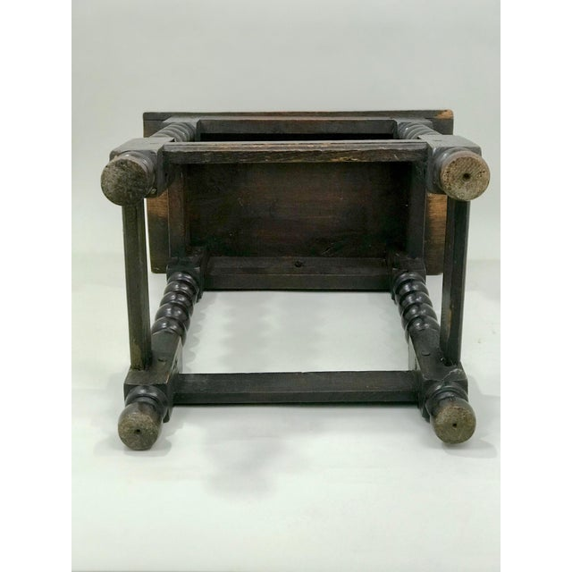 Early 19th Century 19th Century Transitional Oak Stool/Side Table For Sale - Image 5 of 6