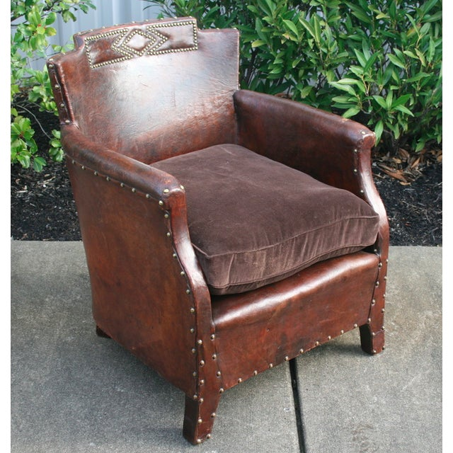 Great looking pair of small club chairs with nailhead trim. Have been restored.