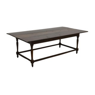 Early 20th Century Antique Rustic Farmhouse Dining Table For Sale