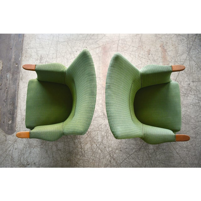 Danish 1960s Hans Wegner Mama Bear Style Lounge Chairs by Poul Jessen - a Pair For Sale - Image 11 of 13