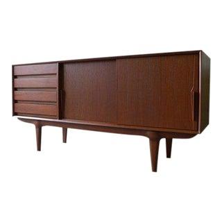 Mid Century Modern Teak Sideboard Credenza For Sale