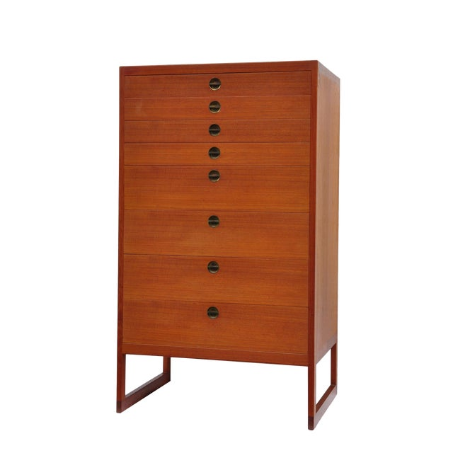 High Chest of Drawers by Børge Mogensen, Denmark, 1964 For Sale