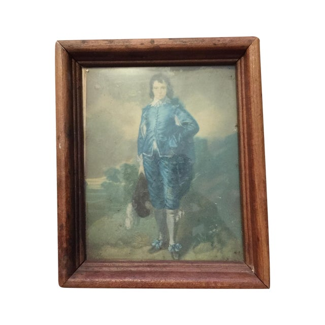 """""""Boy in Blue"""" Antique Painting - Image 1 of 5"""