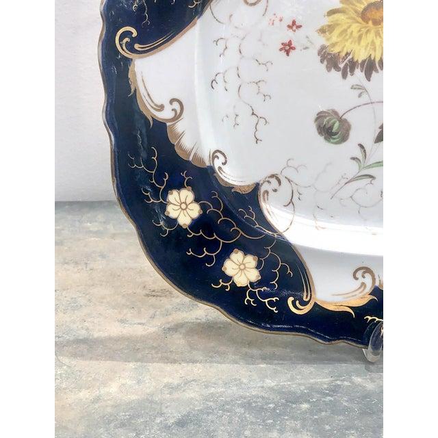 English Traditional 1790s Vintage Worcester Porcelain Platter For Sale - Image 3 of 6